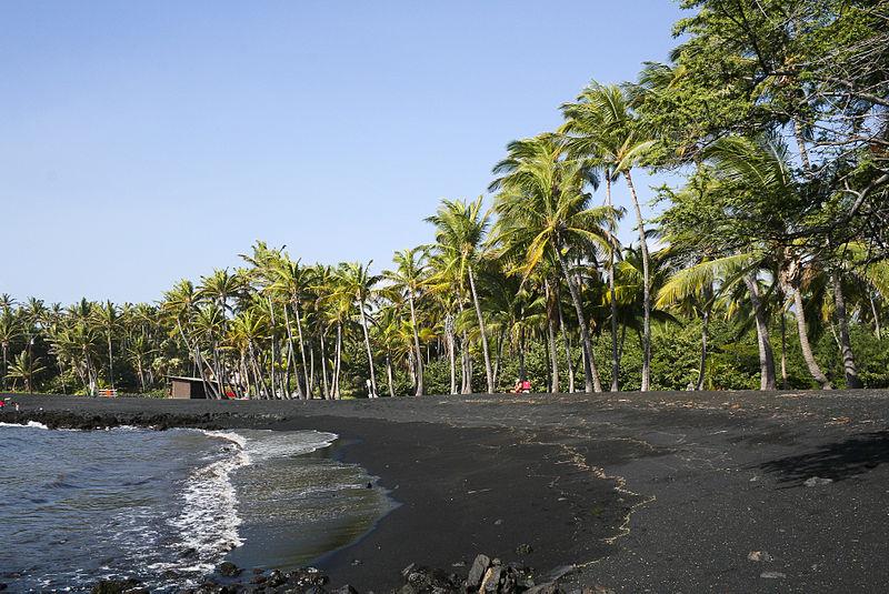 Black Sand Beach Big Island Near Kona
