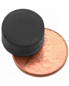 "1/2"" x 1/4"" Disc - Rubber Coated - Neodymium Magnet"