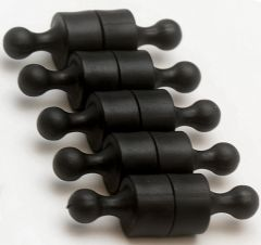 Magnet Pins - Solid - Small - Black - Neodymium