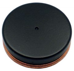 "3/4""x 1/8"" Disc - North Pole Marked - Black Epoxy"