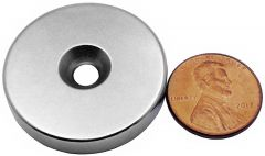 "1.25"" x 1/4"" Countersunk Ring - Neodymium Rare Earth Magnet"