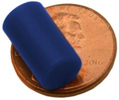 "1/4"" x 1/2"" Cylinders - Plastic Coated - Blue - Neodymium Magnet"