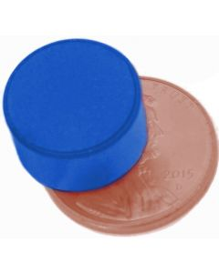 "1/2"" x 1/4"" Disc - Plastic Coated - Blue - Neodymium Magnet"