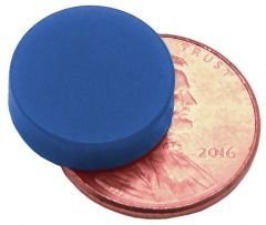 "1/2"" x 1/8"" Disc - Plastic Coated - Blue - Neodymium Magnet"