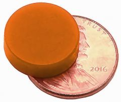 "1/2"" x 1/8"" Disc - Plastic Coated - Orange - Neodymium Magnet"