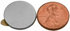 "3/4"" x 1/16"" Disc Magnets - Adhesive Backed - Neodymium Magnets"