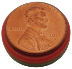 "3/4""x 1/8"" Disc - Red & Green Plastic Coated"