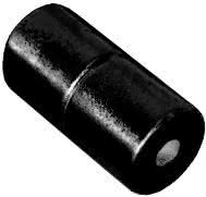 4mm x 4mm Cylinders - Magnetic Jewelry Clasps - Black Epoxy