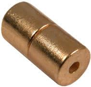 4mm x 4mm Cylinders - Magnetic Jewelry Clasps - Gold