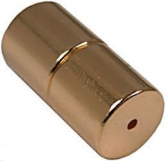 8mm x 8mm Cylinders - Magnetic Jewelry Clasps - Gold