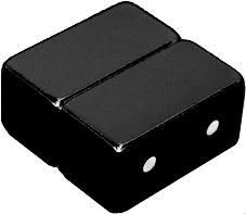 12mm x 6mm x 6mm Blocks - Magnetic DOUBLE Jewelry Clasps - Black