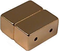 12mm x 6mm x 6mm Blocks - Magnetic DOUBLE Jewelry Clasps - Gold