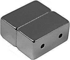 12mm x 6mm x 6mm Blocks - Magnetic DOUBLE Jewelry Clasps - Silve