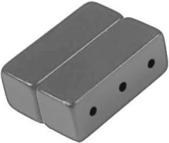 16mm x 6mm x 6mm Blocks - Magnetic TRIPLE Jewelry Clasps - Silve