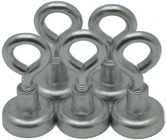 5 EYE BOLT Neodymium Hook Magnets - each holds 12 lbs