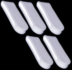 Bendable Silicone Magnetic Clips - White - Neodymium Magnets