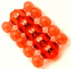 Magnet Pins - Jewel - Medium - Orange - Neodymium