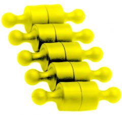 Magnet Pins - Solid - Small - Yellow - Neodymium