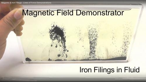 Lines of Force Demonstration - Magnets & Iron Filings