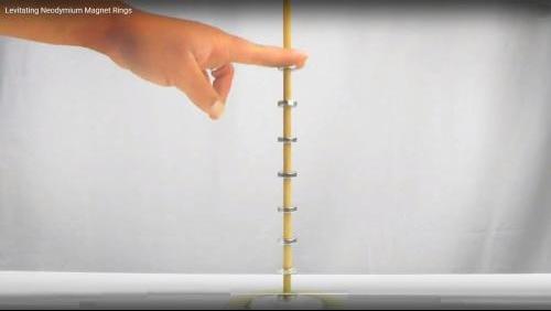 Levitating Neodymium Ring Magnets