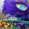 DIY Mardi Gras Mask Magnets