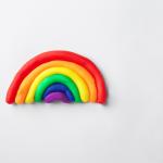 DIY Rainbow Clay Magnets